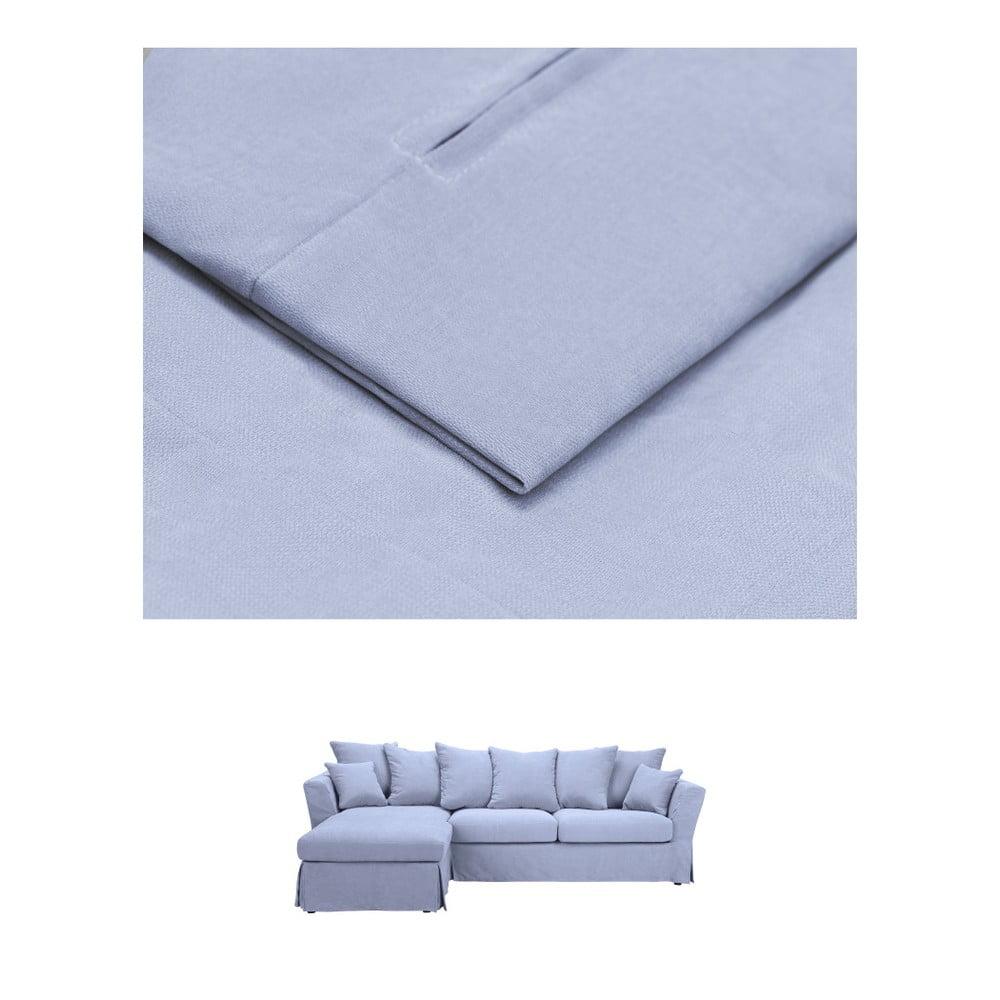 Modrý povlak na trojmístnou pohovku THE CLASSIC LIVING Helene, levýroh