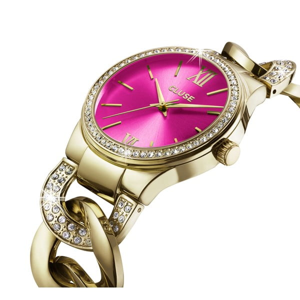 Dámské hodinky Brillante Gold/Cerise, 38 mm