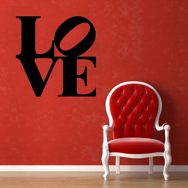 Samolepka na stěnu Love