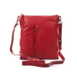 Červená kožená kabelka Gianni Conti Laelia ad51f89d19a