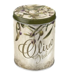 Plechová dóza Olive, 10x13 cm