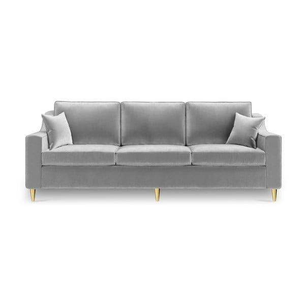 Canapea extensibilă cu 3 locuri Mazzini Sofas Marigold, gri
