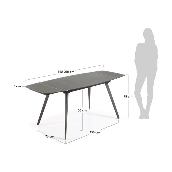 Rozkládací jídelní stůl La Forma Snugg, délka140-210cm