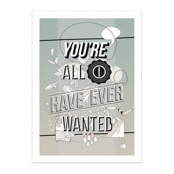 Plakát All I Want, limitovaná edice