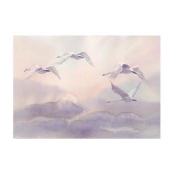 Tapet format mare Bimago Flying Swans, 400 x 280 cm poza