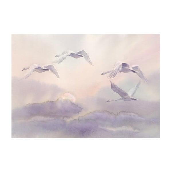 Veľkoformátová tapeta Bimago Flying Swans, 400 x 280 cm