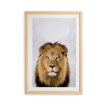 Tablou cu ramă pentru perete Surdic Lion, 30 x 40 cm