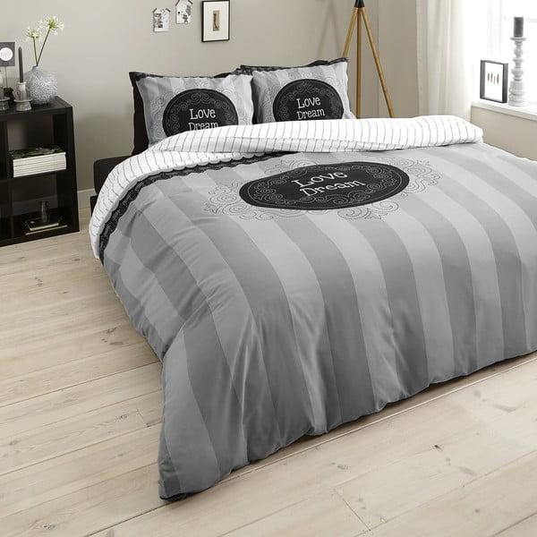Povlečení Love of Dream 200x200 cm, šedé
