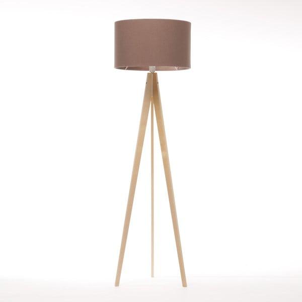 Stojací lampa Artist Dark Taupe Felt/Natural, 125x42 cm