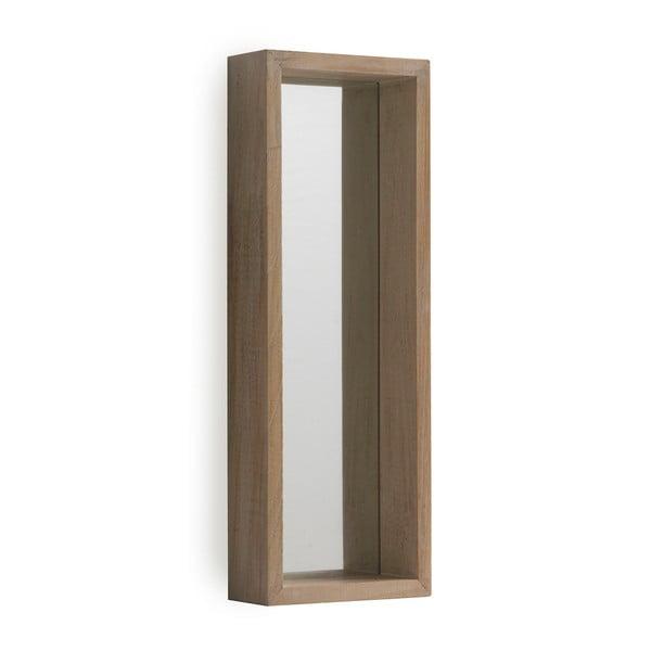 Oglindă cu ramă de perete din lemn paulownia Geese Pure, 62 x 22 cm