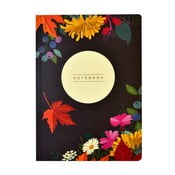 Agendă Portico Designs Autumn Floral Flexi, 160 file