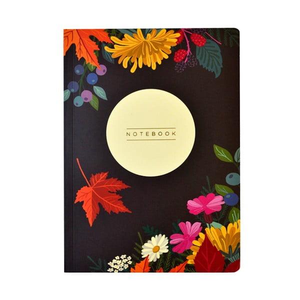 Zápisník Portico Designs Autumn Floral Flexi,160stránek