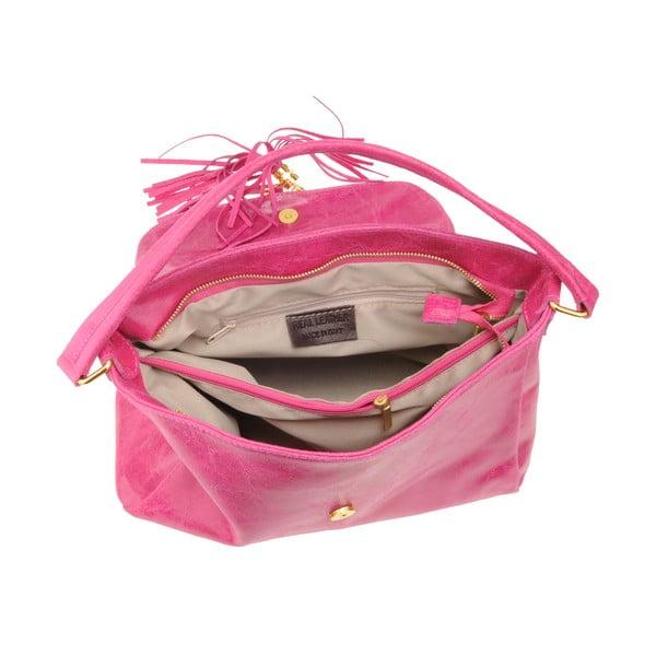 Kožená kabelka Diadema, růžová