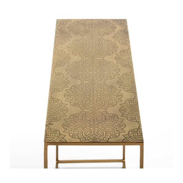 Konzolový stolek ve zlaté barvě Thai Natura Blaumanne, délka102cm