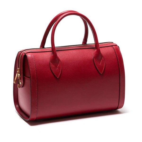 Červená kožená kabelka Sofia Cardoni Iniga