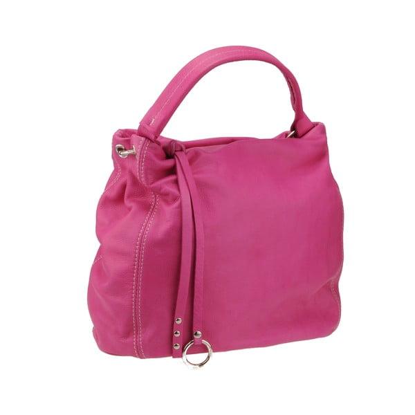 Kožená kabelka Agena, růžová