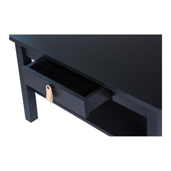 Černý konferenční stolek se zásuvkou We47 Saima