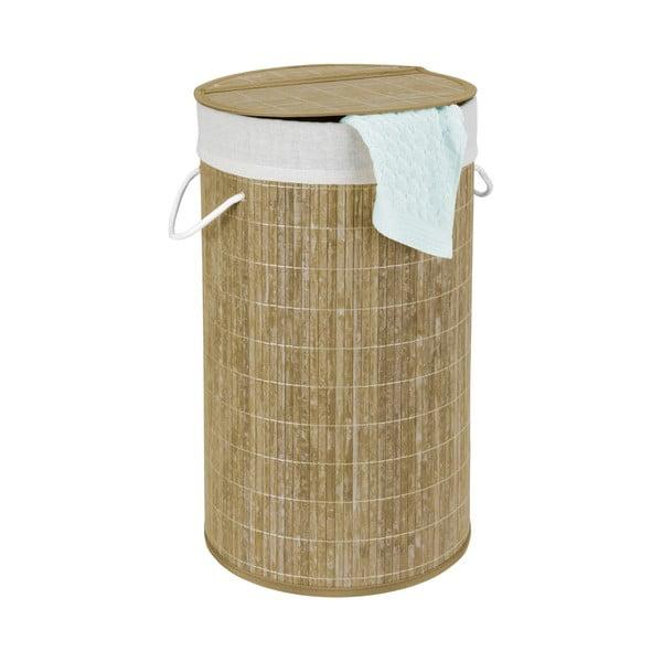 Bambusowy kosz na pranie Wenko Biana, 55 l