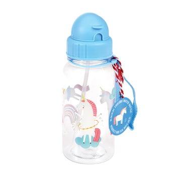 Sticlă pentru apă Rex London Magical Unicorn, albastru