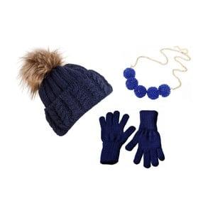 Sada čepice, rukavic a náhrdelníku Lavaii Dolores