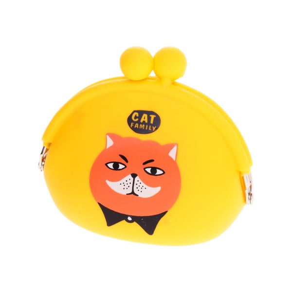 Žlutá gumová peněženka Languo Cat