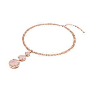 Náhrdelník v barvě růžového zlata s krystaly Swarovski Saint Francis Crystals Apricot