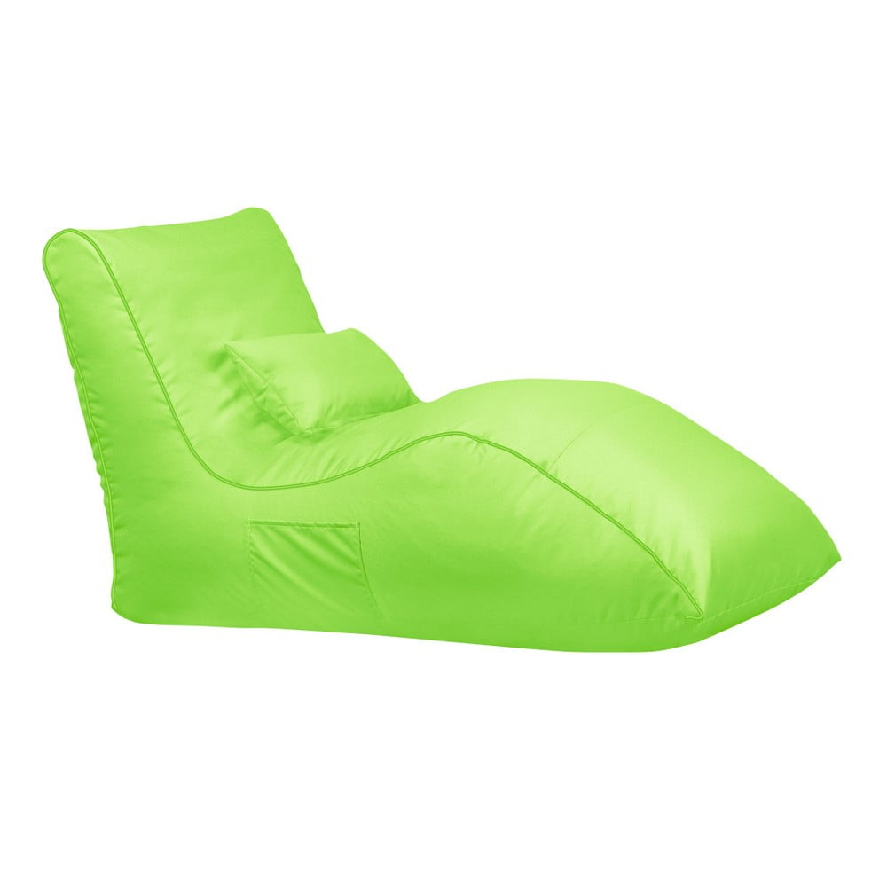 Zelený sedací vak Sit and Chill Palawan Chaise Longue