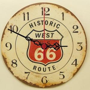 Nástěnné hodiny Route 66, 30 cm