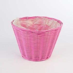 Kulatý ratanový květináč Baskie Pink