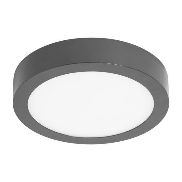 Šedé kruhové stropní svítidlo SULION, ø22,5cm