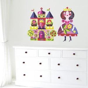 Velké nástěnné znovu snímatelné samolepky Chocovenyl Princess and Castle