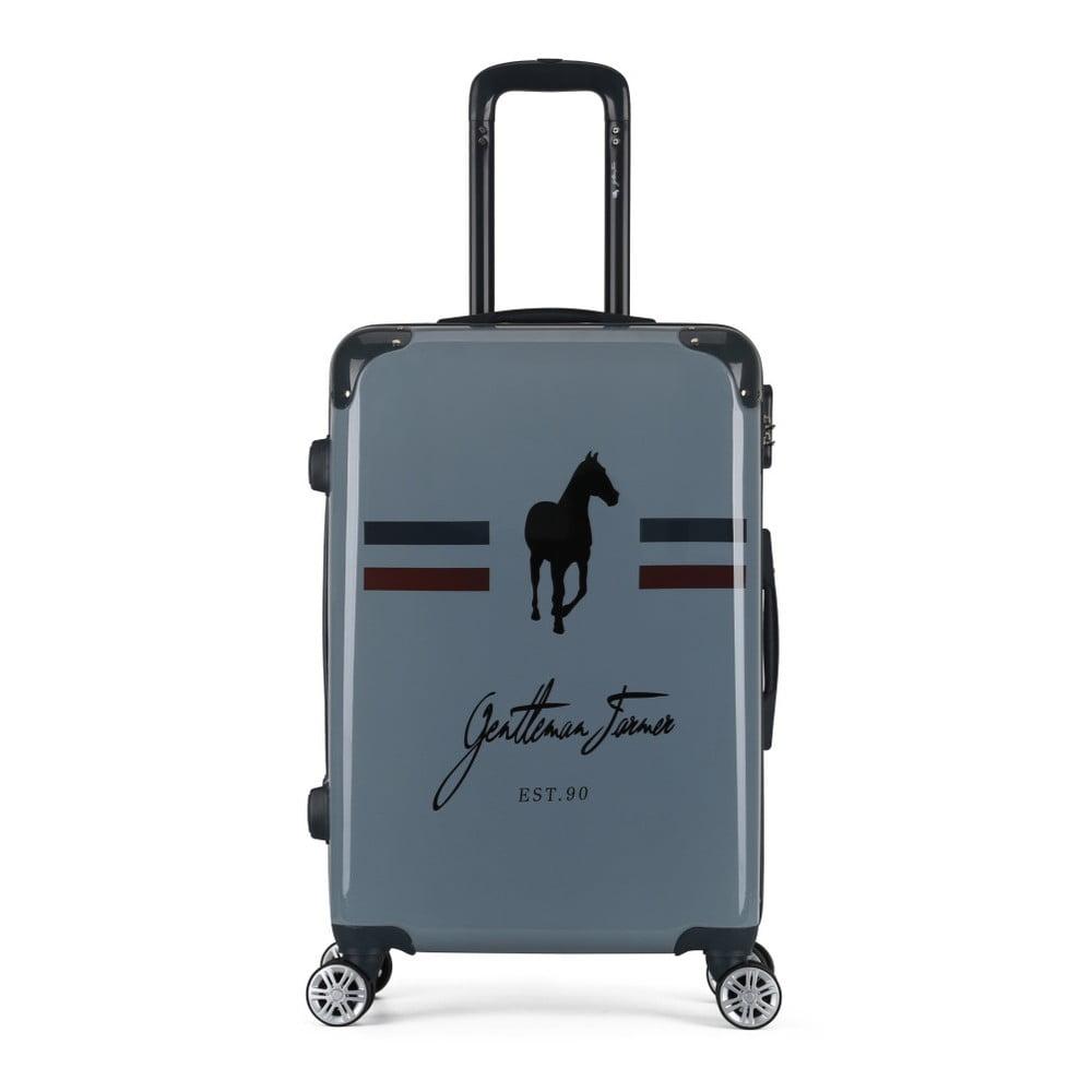 Tmavě šedý cestovní kufr na kolečkách GENTLEMAN FARMER Valise Grand Format, 41 x 62 cm