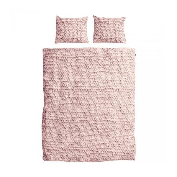 Růžové povlečení Snurk Dusty, 200x200cm