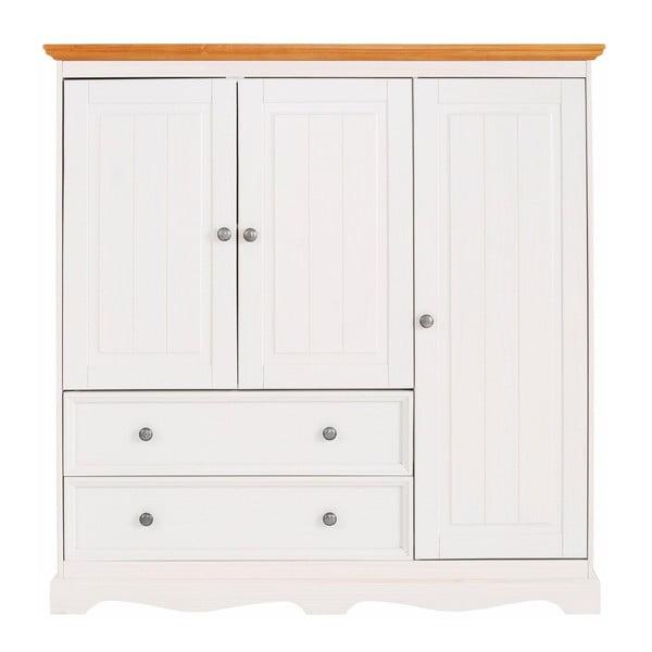 Bílá dřevěná komoda Støraa Monty Detail