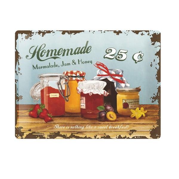 Plechová cedule Homemade, 30x40 cm