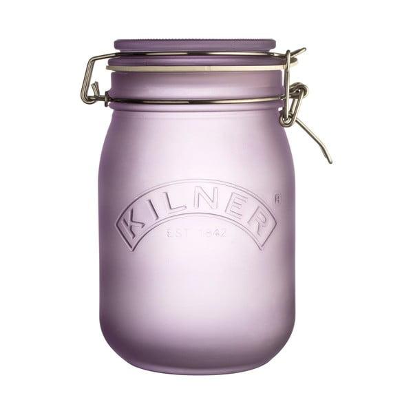 Mlecznofioletowy słoik z hermetycznym zamknięciem Kilner, 1 l