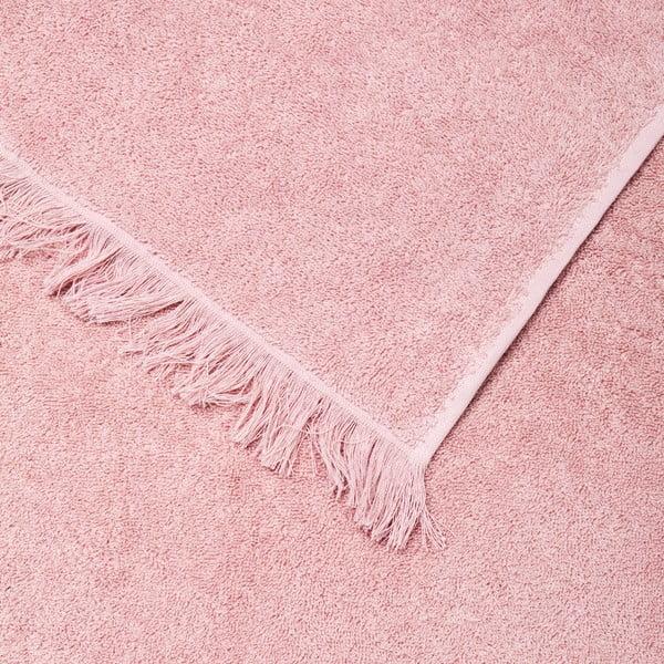 Set 2 růžových bavlněných ručníků a 2 osušek Casa Di Bassi Bath