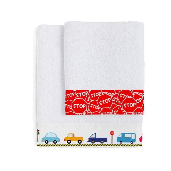 Sada 2 ručníků Mr. Fox Traffic, 50x100 cm a 70x140 cm