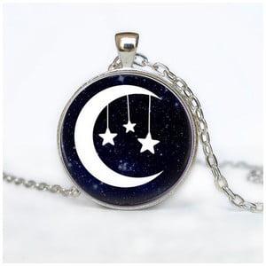 Dámský řetízek s přívěskem Butoni de Camasa Moon With Stars