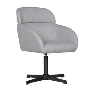 Světle šedá pracovní židle na kolečkách Skyport Wohnling Maya