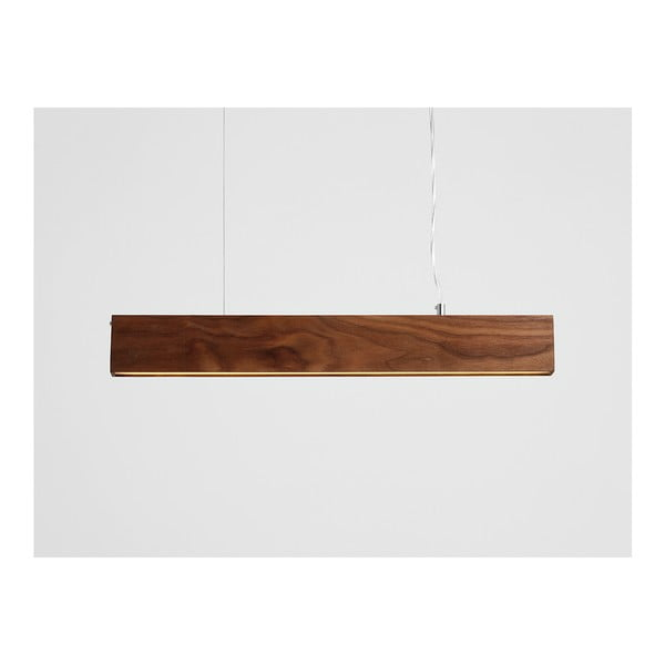 Line Plus L Woody függőlámpa diófából - Custom Form