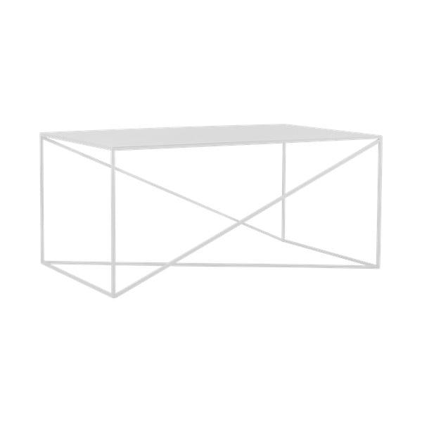 Biely konferenčný stolík Custom Form Memo, dĺžka 100 cm
