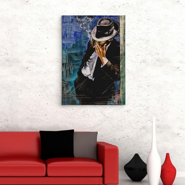Obraz na plátně Muž s cigaretou, 50x70 cm