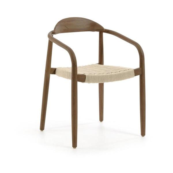 Krzesło z drewna eukaliptusowego La Forma Glynis
