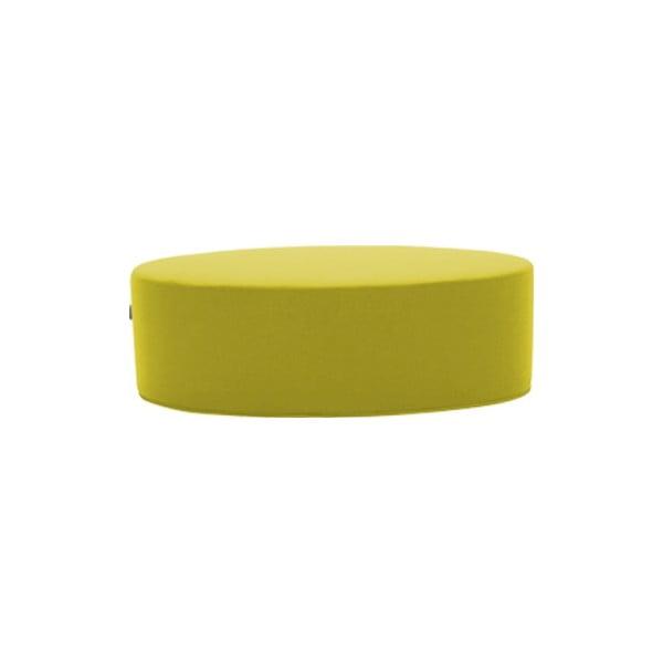 Žlutý puf Softline Bon-Bon Felt Melange Yellow, délka 100 cm