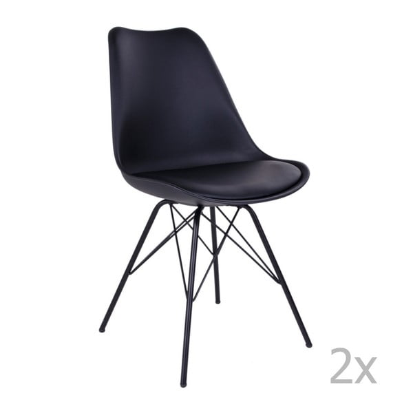 Oslo 2 darabos fekete székkészlet - House Nordic
