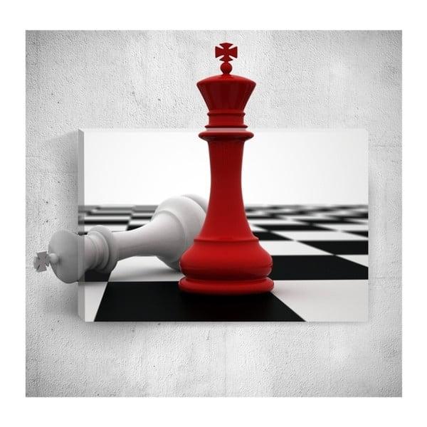 Nástěnný 3D obraz Mosticx Red Check, 40 x 60 cm