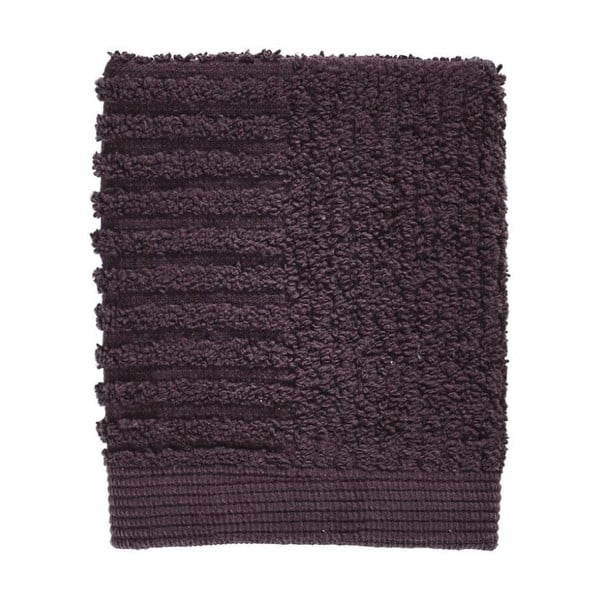 Tmavofialový uterák zo 100% bavlny na tvár Zone Classic Velvet Pur, 30×30 cm