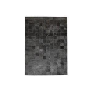 Koberec z pravé kůže Modena Black, 170x240 cm