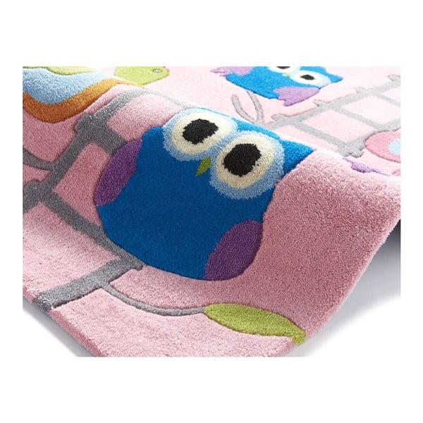 Růžový koberec Think Rugs Hong Kong Pinkie, 70x140cm